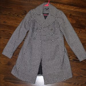 Black and White dotted Coat